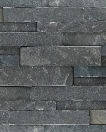 Charcoal Detail Stacked Stone Panel Norstone