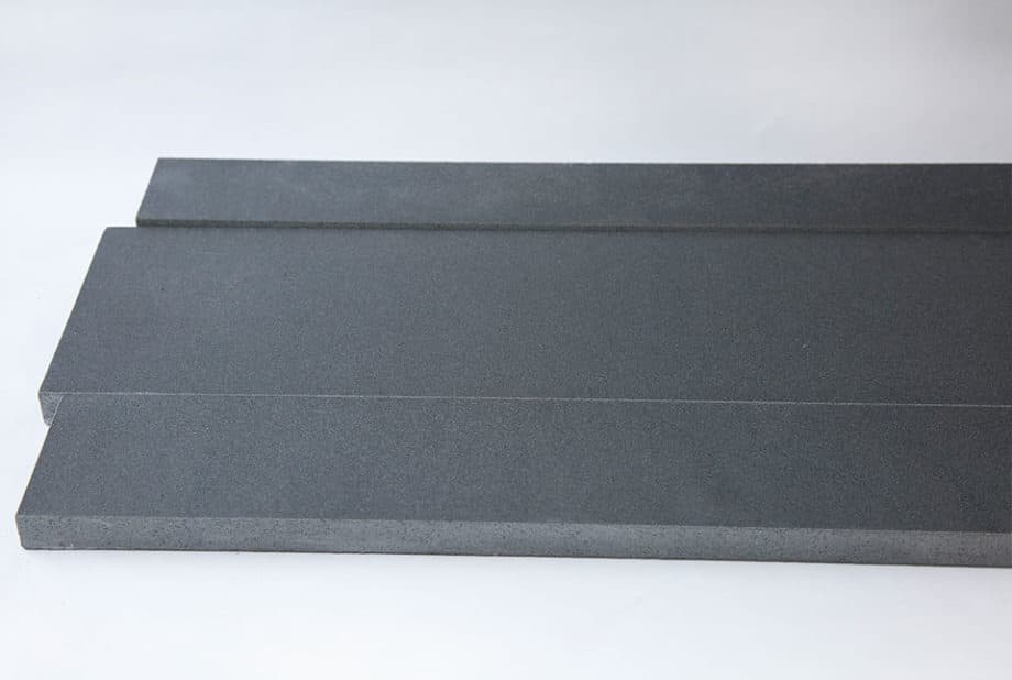 Grey basalt stone planks used for walling