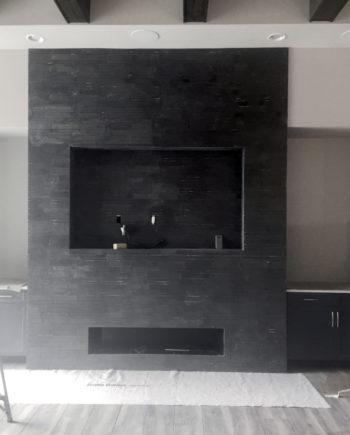 Surface Shop Black Basalt LInear Cladding Fireplace 02