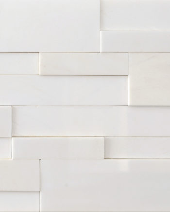 AKSENT 3D White Stacked Marble Wall Panel