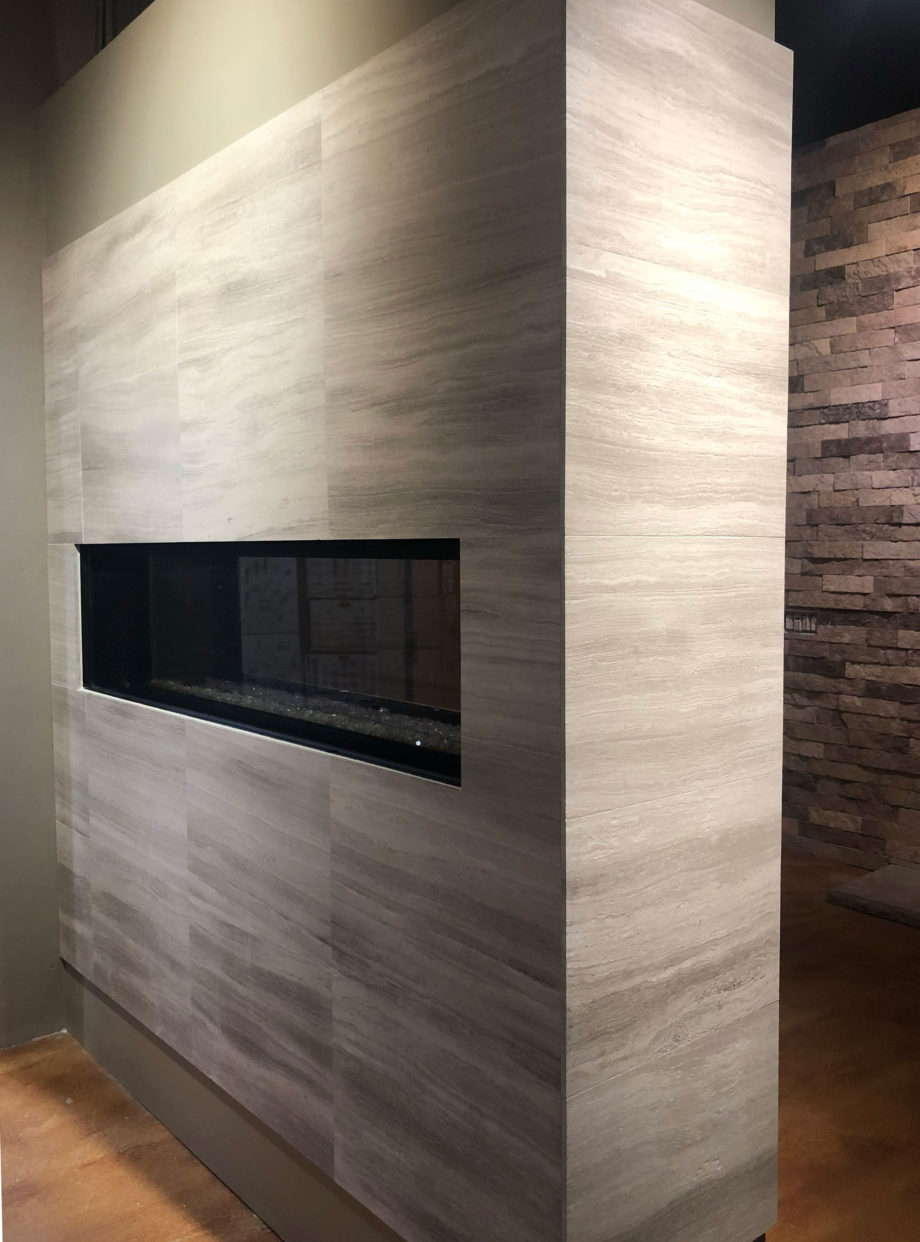 Silva Classic Contemporary Stone Fireplace scaled
